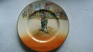 """ROYAL DOULTON Dickens Ware rack plate """"Bill Sykes"""" by Noke...# 107"""