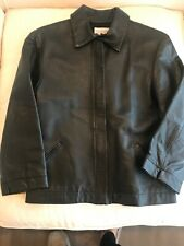 Womens Black Leather Jqcket Size 6