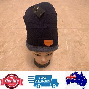 Quality Men's Super Warm Beanies Sport Beanies Winter Hat, Navy, AU Stock