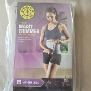 Gold's Gym Waist Trimmer Exercise Belt 8 in Wide Belt Fits 50 in