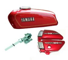 Yamaha Rx100 Rx125 Red Petrol Fuel Tank With Side Panel Lid Cap Tap & Emblem S2u