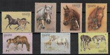 (W1255) KYRGYSTAN, 1995, HORSES, MI 87/93, UM/MNH, SEE SCAN