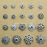 Wholesale Hollow Bead Tibetan Silver Flower End Bead Cap Jewelry Connector