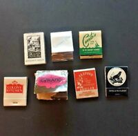VINTAGE MATCHBOOK LOT ~ 7 California Books: Venture Club, Cyrano, Cerritos  -214