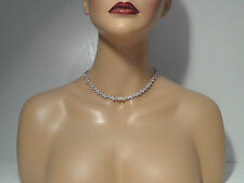 NADRI Silver Leaves with Clear Crystal Collar Necklace.*****NEW*****