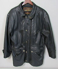 Men's Size S Small Colebrook Distressed Black Leather Winter Jacket Coat
