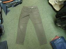 """Unknown SLIM Khaki Jeans GIROVITA 30 """" """" GAMBA 30 """" sbiadito marrone scuro da"""