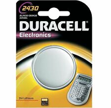 1 x Duracell CR2430 3V Lithium Coin Cell Battery DL2430 K2430L ECR2430 New