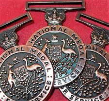 10 x AUSTRALIA ARMY NAVY AIR FORCE EMERGENCY LONG SERVICE NATIONAL MEDAL REPLICA