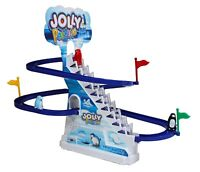 Jolly Funny Penguin Race Game Slide Classic Racer Electronic Track Children