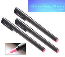 3 x UV Stift wasserfest Geocaching unsichtbar schwarzlicht Kugelschreiber geheim