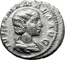 JULIA MAMAEA 222AD Juno Peacock Ancient Silver Roman Denarius Coin Rome i59209