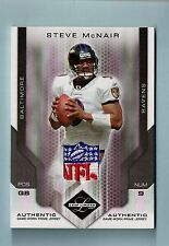 STEVE MCNAIR 2007 LEAF LIMITED GAME WORN JERSEY PRIME NFL LOGO PATCH 1/1