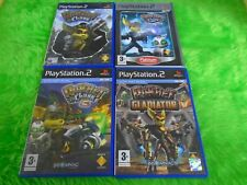 ps2 RATCHET CLANK x4 Games 1, 2 Locked and Loaded, 3, Gladiator PAL UK Versions