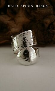 232 YEARS OLD GEORGIAN SOLID SILVER SUGAR TONG RING C1789 PERFECT CHRISTMAS GIFT