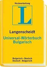 Langenscheidt Universal-Wörterbuch Bulgarisch | Buch | Zustand sehr gut