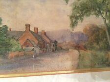 Counteshorpe Village A. B. Lea 1910 Original Painting Framed And Signed