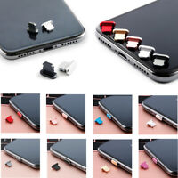 Lot Metal Anti Dust Charger Dock Plug Stopper Cap Cover For iPhone Max XR XS X 8