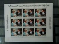 MAURITIUS 1982 BIRTH OF PRINCE WILLIAM 1v COMPLETE SHEET OF 9 MNH MINT SG647