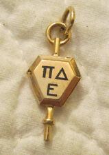 key fob pendant Pin Kansas State Pi Delta Epsilon 10k Gold Fraternity Sorority