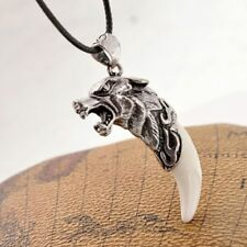 Amulet Fang Tooth Men Spike Necklace Wolf Tooth