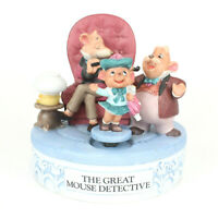 Disney The Great Mouse Detective Music Box w/Animated Figure Musical Memories LE