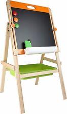 Compact Childrens Writing Board Chalk Magnet Whiteboard Blackboard Wooden Easel