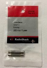"RADIOSHACK 5.0-AMP 250V 1¼X¼"" CERAMIC SLOW-BLOW FUSE (2-PACK) 270-0156 NEW"