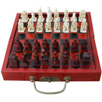 Small Size Folding Antique Chinese Chess Board Games Wooden Chess Pieces Set
