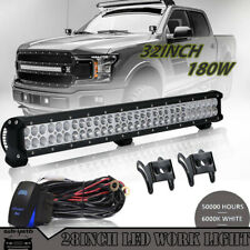 Two Row 28inch 180W LED Light Bar Spot Flood Combo for FORD 30/32""