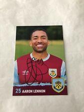 Spelerskaart Topspieler Handsigniert Burnley FC Aaron Lennon
