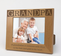 """Personalized Grandpa Wooden Picture Frame 
