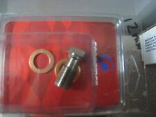 Custom Brake line fitting 12 mm to banjo BOLT n crush