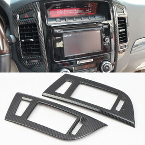 For Mitsubishi Pajero V80 2007-2021 Center Console Air Outlet Vent Cover Trim