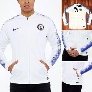NWT Nike Chelsea Training Drill Zip Anthem Football Jacket Top AA3330 100 S RARE