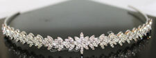 4.66ct NATURAL DIAMOND 14K WHITE GOLD WEDDING ANNIVERSARY TIARA CROWN