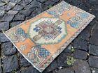 Bohemian rug, Vintage rug, Small, Handmade, Decor rug, Bedroom | 1,4 x 2,4 ft