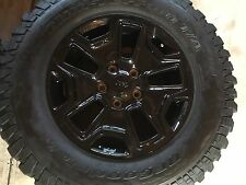 Set Of 5 JEEP WILLY'S Rubicon Black Out Edition 17 inch WHEELS TIRES 255/75R17