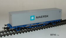 "PIKO 58743- containertrwagwagen- "" Maersk "" avec 40ft CONTAINER,PKP Cargo,ep. VI"