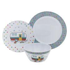 Camping Fun Melamine Dinnerware Set - Rustic Camper Dishware - 12 Pieces