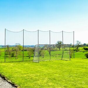 Stop That Ball™ Net and Post System   Socketed Multi-Sport Ball Stop Netting