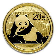 2015 China 1/20 oz Gold Panda BU (Sealed) - SKU #84911