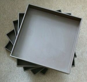 PALASET BY TRESTINO SET OF 5 DRAWERS FOR 6-DRAWER CUBE BROWN EXCELLENT CONDITION