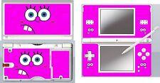 DS Lite - SPONGE BOB PINK 4 Piece Decal / Sticker Skin NINTENDO DS LITE