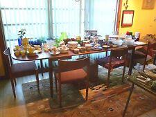 MID CENTURY MODERN DANISH MODERN TEAK 108 INCH LONG DINING TABLE