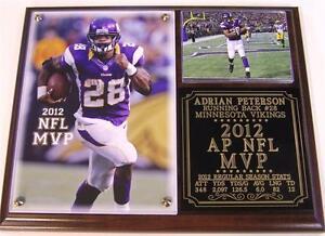 Adrian Peterson #28 2012 NFL MVP Minnesota Vikings Photo Plaque