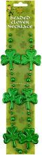 5 x Fancy Dress Irish Ireland Shamrock Eire St Patricks Beaded Clove Necklace