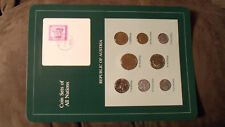 Coin Sets of All Nations Austria all 1982 UNC w/card 20,10,5,1 Schilling