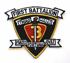 1ST BATTALION 3RD MARINES 1/3 HAT PATCH US MARINES PIN UP 3RD MAR DIV MCB HAWAII