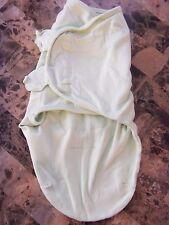 baby KIDDOPOTAMUS SWADDLER unisex green SLEEP SACK cotton SMALL MEDIUM 7-14 LB